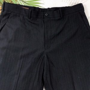 Perry Ellis Black PinStripe Men's Dress Pants